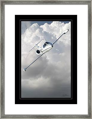 Learjet Framed Print by Larry McManus