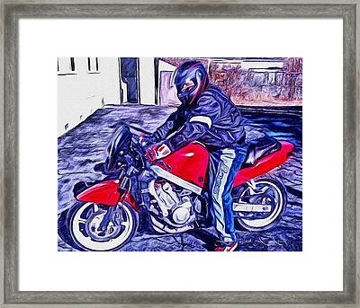 Learn How To Ride Framed Print