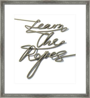 Learn The Ropes Rope Framed Print by Allan Swart