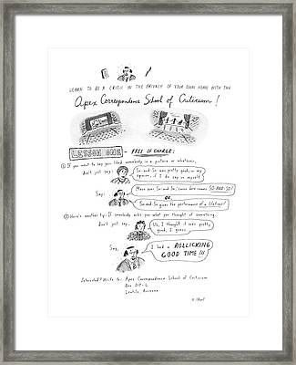 Learn To Be A Critic In The Privacy Of Your Own Framed Print