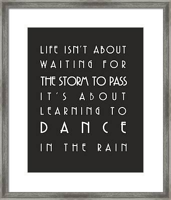 Learn To Dance In The Rain Framed Print by Georgia Fowler