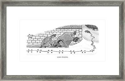 Learn Tracking Framed Print by Arnold Roth