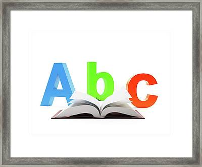 Learning The Alphabet Framed Print