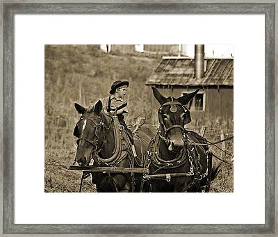 Learning To Drive Framed Print