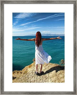 Learning To Fly - Greece Framed Print by Daliana Pacuraru