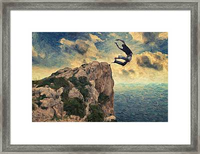 Learning To Fly Framed Print by Taylan Apukovska