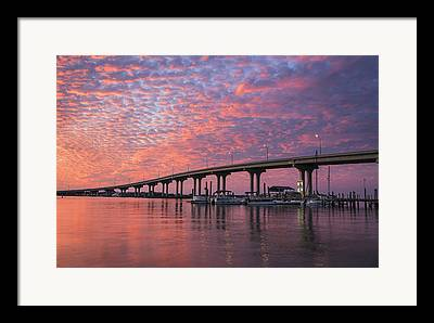 Florida Bridge Photographs Framed Prints