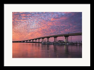 Florida Bridge Framed Prints