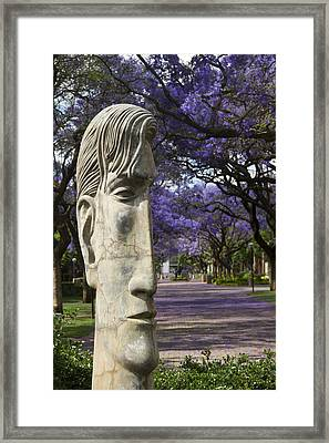 Learning To Love Purple Framed Print
