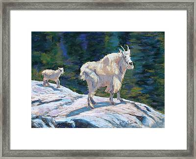 Learning To Walk On The Edge Framed Print