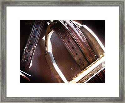Leather And Iron Framed Print
