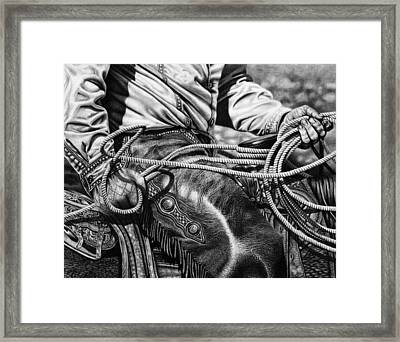 Leather And Loops Framed Print by Glen Powell