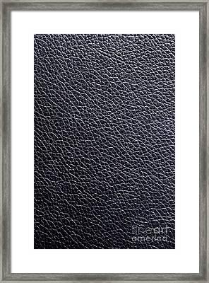 Leather Background Framed Print