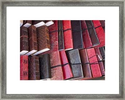 Leather Bound Framed Print