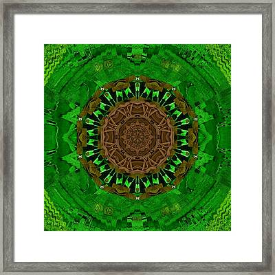 Leather Love And Heart Art Collage Framed Print by Pepita Selles