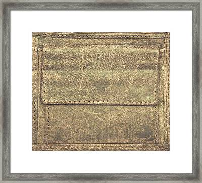 Leather Pocket Framed Print