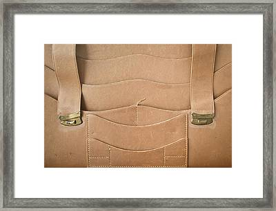 Leather Satchel Framed Print