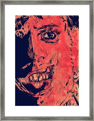 Leatherface Framed Print by Giuseppe Cristiano