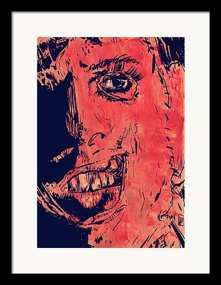 Serial Drawings Framed Prints