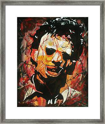 Leatherface Framed Print by Jeremy Moore