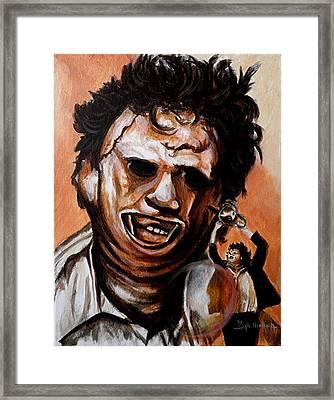 Leatherface Unleashed Framed Print by Al  Molina