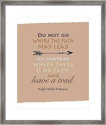 Leave A Trail Framed Print by Tara Moss