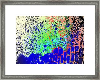 One Can Still See The Leaves And The Squares  Framed Print by Hilde Widerberg