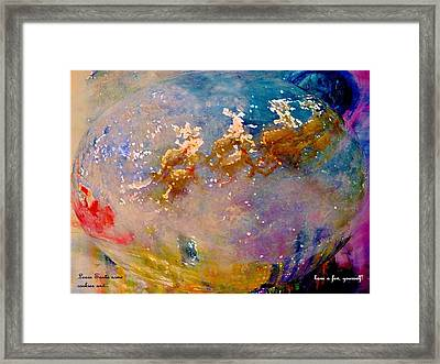 Framed Print featuring the painting Leave Some Cookies For Santa by Lisa Kaiser
