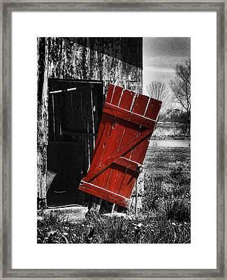 Leave The Door Open Framed Print