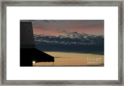 Leave The Light On Framed Print