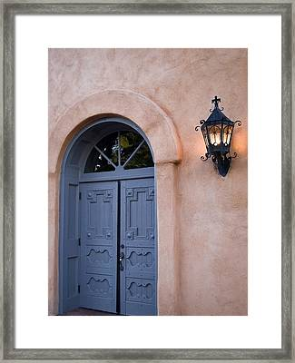 Leave The Light On - Albuquerque New Mexico Framed Print
