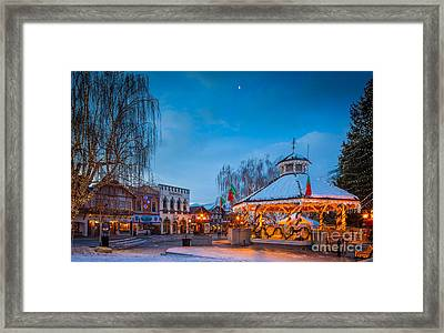 Leavenworth Christmas Moon Framed Print