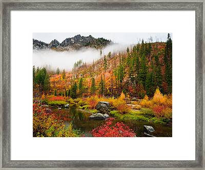 Leavenworth Colors Palette Framed Print by Dan Mihai