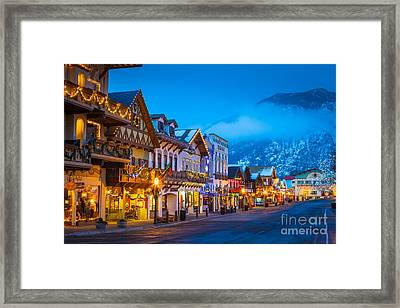 Leavenworth Skyline Framed Print