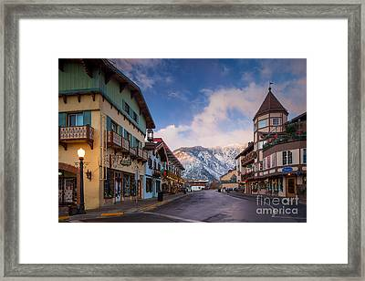 Leavenworth Winter Street Framed Print