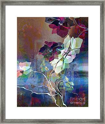 Leaves And Branches Framed Print by Ursula Freer