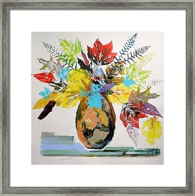 Framed Print featuring the painting Leaves And Fronds by John Williams