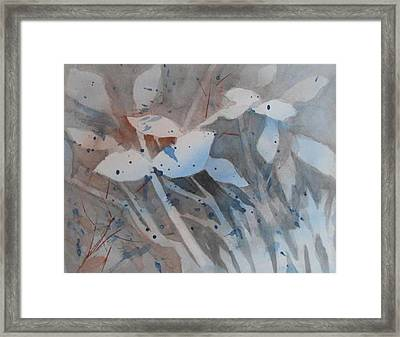 Leaves In Blue 2 Framed Print
