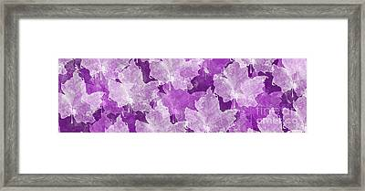 Leaves In Radiant Orchid Panorama Framed Print by Andee Design
