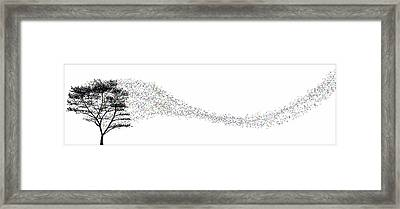 Framed Print featuring the digital art Leaves In The Wind... by Tim Fillingim