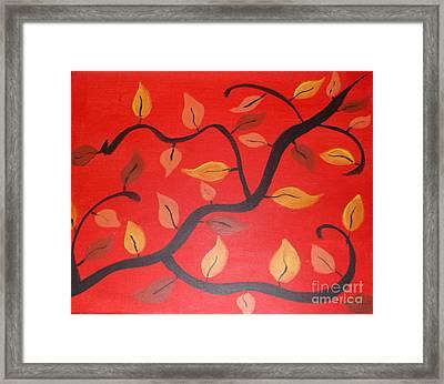 Leaves Framed Print by Krystal Jost