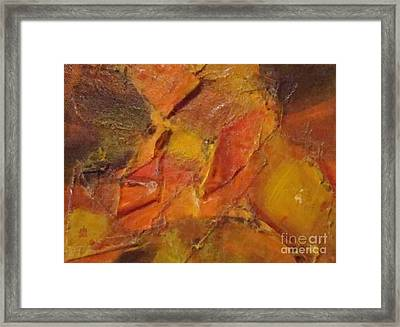 Leaves Of Autumn  Framed Print by Olivia  M Dickerson