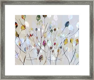 Framed Print featuring the digital art Leaves Of Color by Nina Bradica