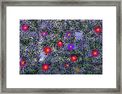 Leaves Of Life Framed Print by Kathy Mcdermott