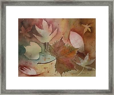 Leaves Framed Print by Patricia Novack