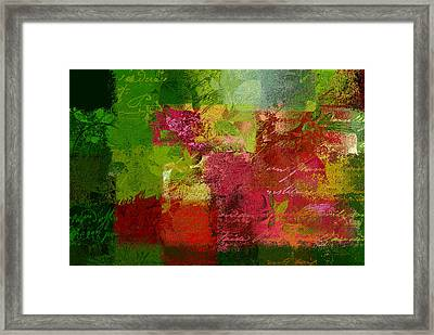 Leaves Rhapsody - 070097100c Framed Print by Variance Collections