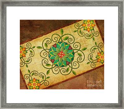 Leaves Rosette 1 Framed Print