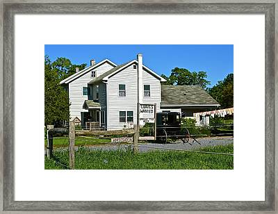 Leaves Wanted Grass Fed Beef Horseshoeing Framed Print