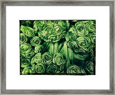 Leaves Woven Into Flowers Framed Print by River Engel