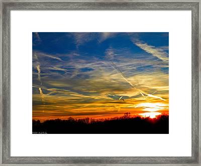 Leavin On A Jetplane Sunset Framed Print